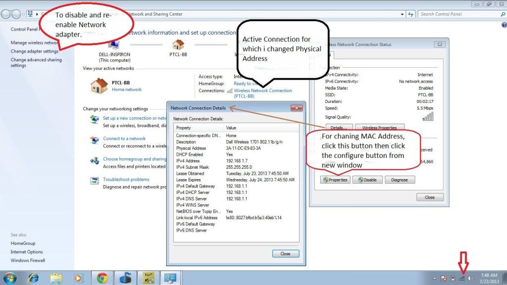 Best Method To Change Mac Address In Windows 7   8  Vista